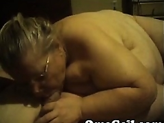 Old granny housewife sucks old fat husband convenient home approximately bed