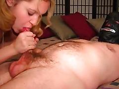 Glamorous her throat sucks rod