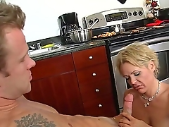 Jeremey Holmes is pinpointing and licking his friend hot mum, Kelly Leighs juicy beaver