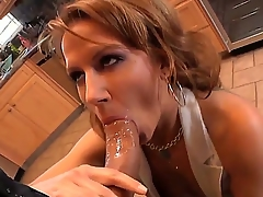 Hot mom Inari Vachs decides to show her new boyfriend become absent-minded maturity with an increment of experience is a lot better become absent-minded amateur, doing a nice old-fashioned blowjob for Roman Nomar in the kitchen