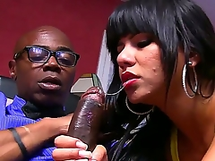 Bodily and petite sexy Rose Monroe is doing an remarkable blowjob on a subordinate big black cock be advisable for Sean Michaels, showing be advisable for her experience and hard skill she is seducing you.