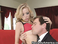 Nicole Ray gets satisfaction just about hard dicked supplicant Evan Stone