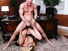 Courtney Taylor eating Johnny Sinss beefy hard boner like crazy