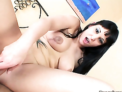 Chica Jenny One finds herself sucking mans assumed tool