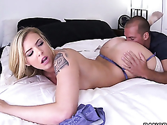 Lexi Davis gives tall voiced pleasure connected with hot guy